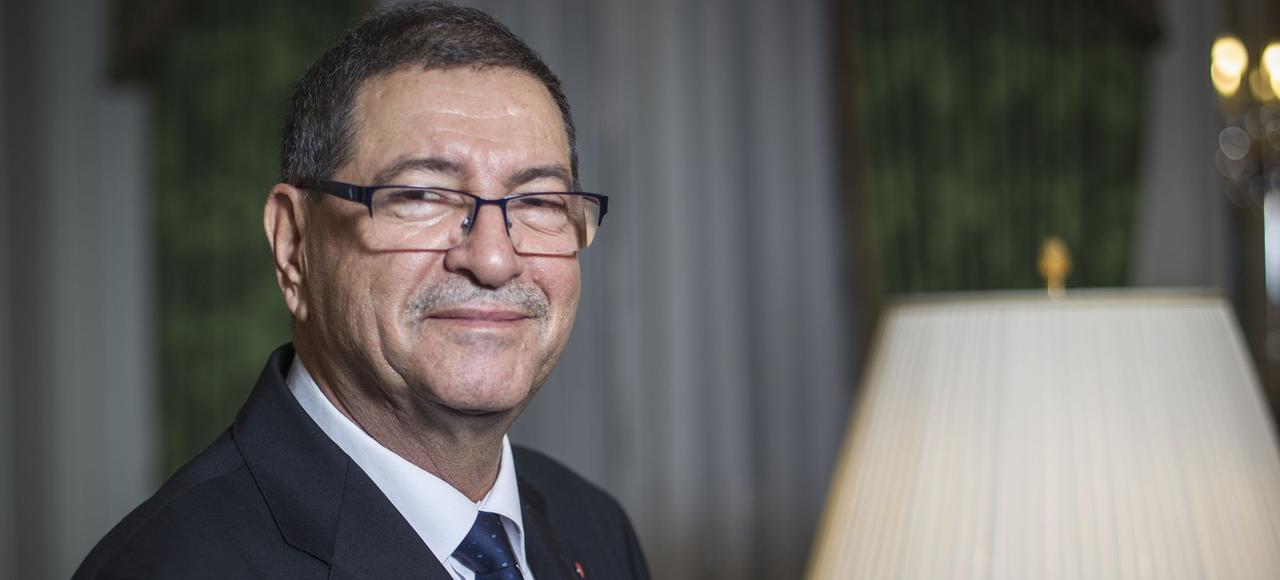 Habib Essid, vendredi, à Paris.