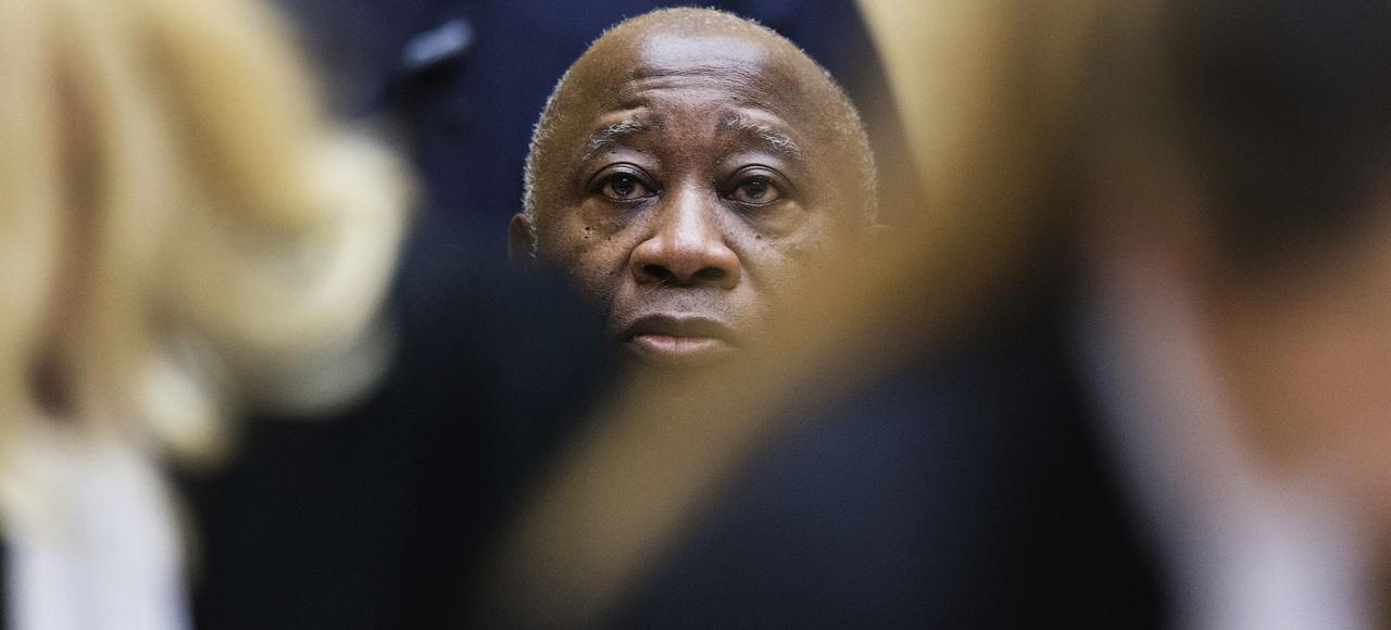 Laurent Gbagbo devant la Cour pénale internationale le 19 février 2013.