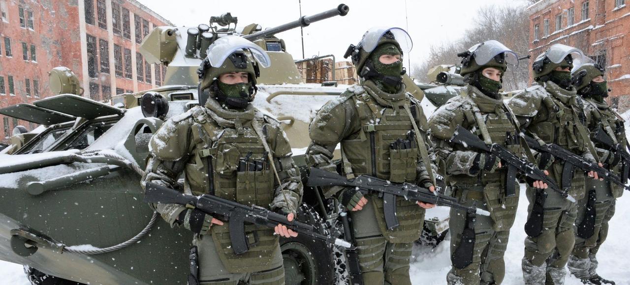 Des militaires russes lors d'un exercice d'entraînement, le 20 janvier dans l'oblast de Vladimir.