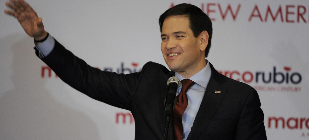 Grand espoir du parti républicain (44 ans), Marco Rubio a glané 23,1% des voix dans l'Iowa.DAVE KAUP/REUTERS
