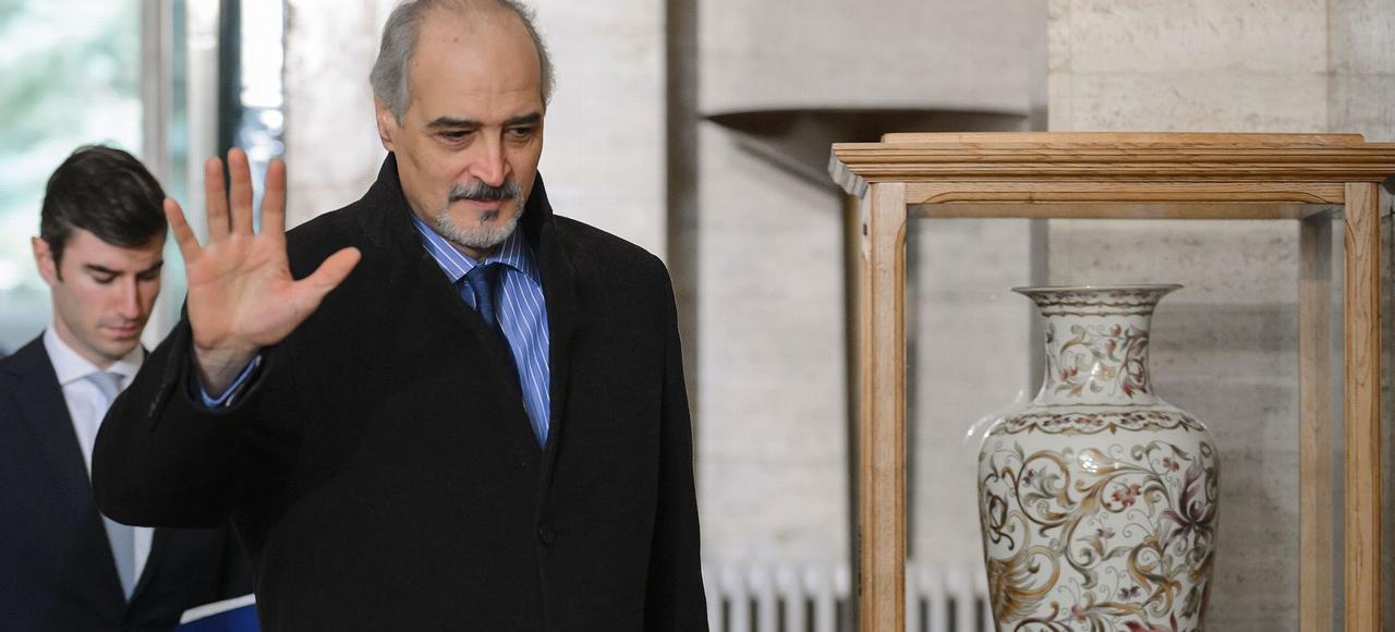 Bachar Jafaari, l'ambassadeur de Syrie auprès de l'ONU, mardi à Genève.