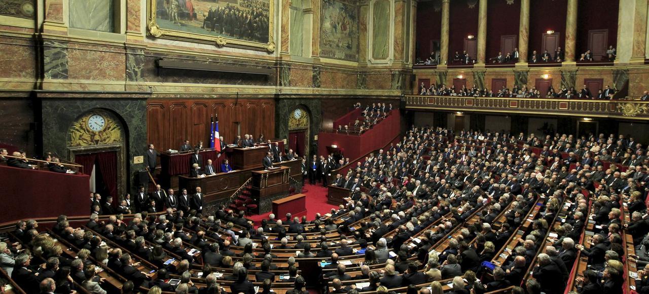 François Hollande devant le Parlement, réuni en Congrès, le 16 novembre, à Versailles.