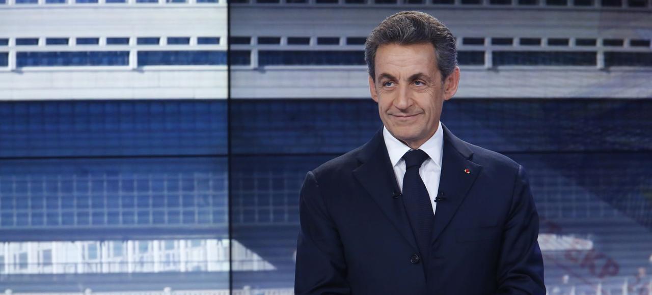 Nicolas Sarkozy sur le plateau du «19/20» de France 3 le 27 mars 2015.