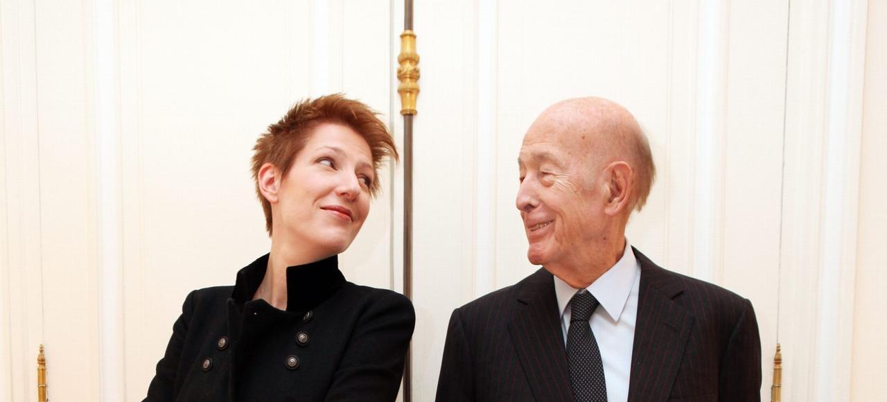 Valery Giscard d'Estaing a répondu aux questions de Natacha Polony dans les bureaux de l'ex-président, boulevard Saint Germain, à Paris.