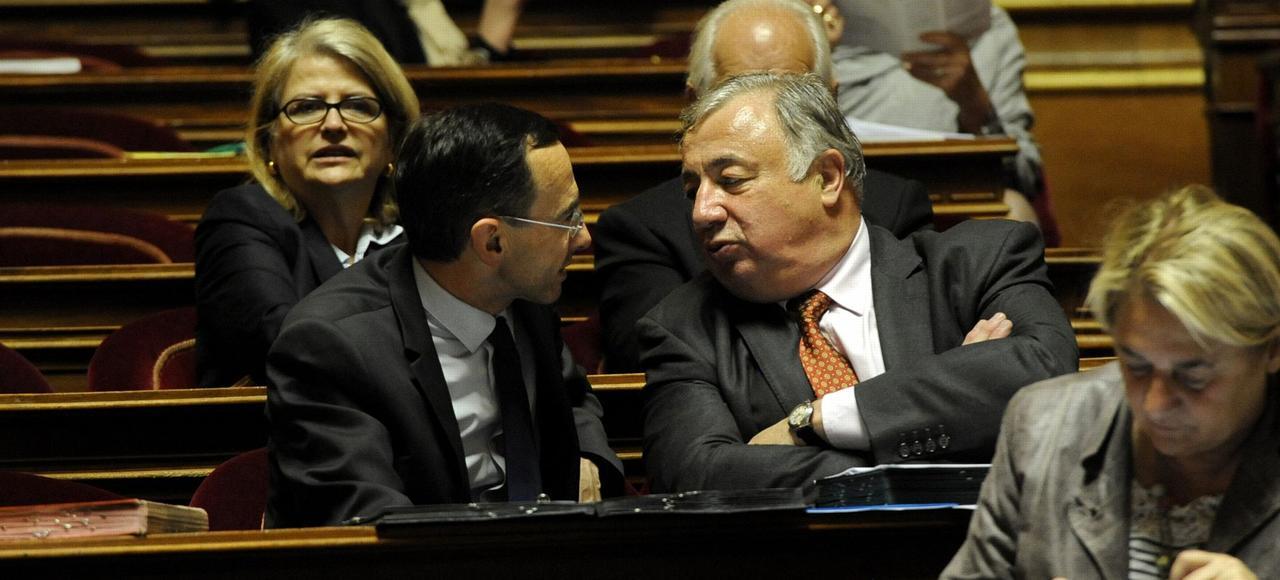 Bruno Retailleau, président du groupe LR au Sénat, et Gérard Larcher, président du Sénat.