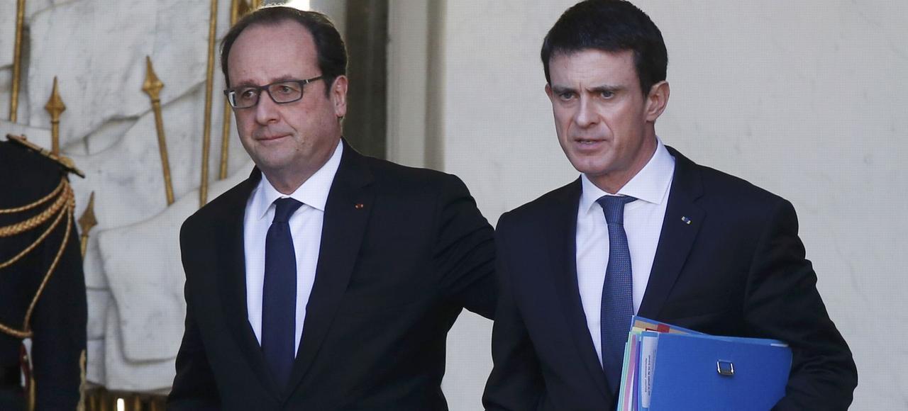 François Hollande et Manuel Valls à l'Élysée, le 3 février 2016.