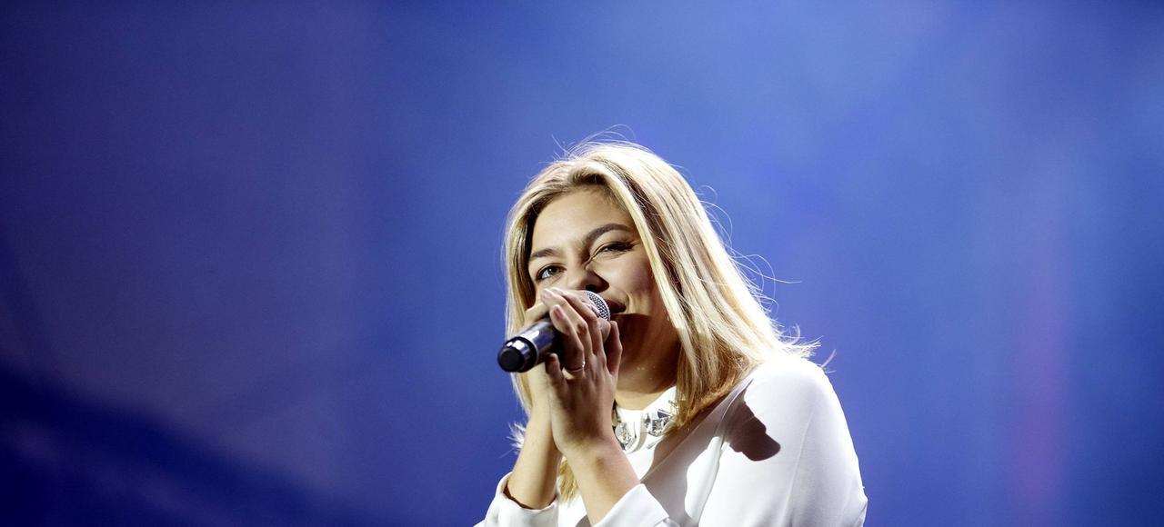 Louane à Bruxelles en septembre 2015.