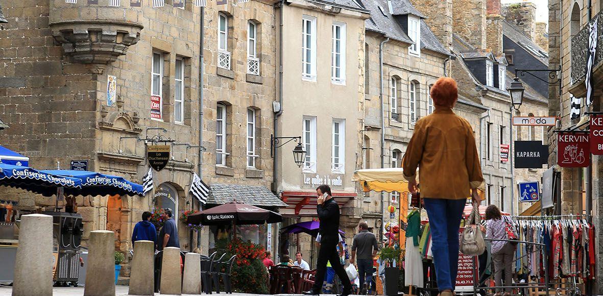 Le centre historique de Guingamp.