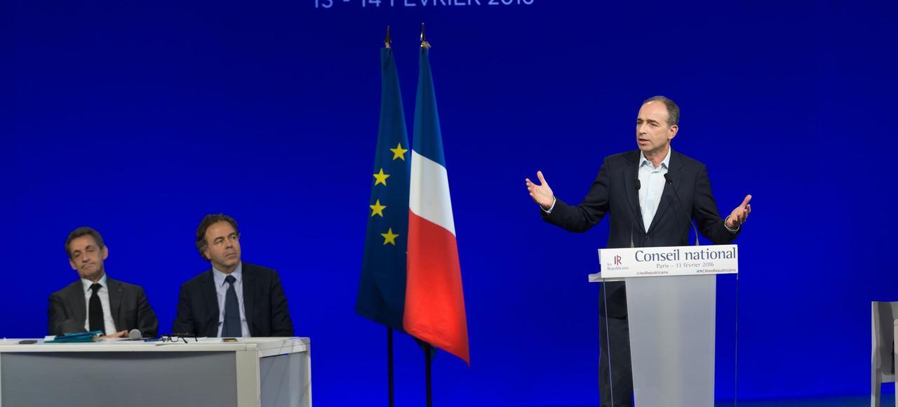 Jean-François Copé lors du Conseil national des Républicains le samedi 13 février à Paris.