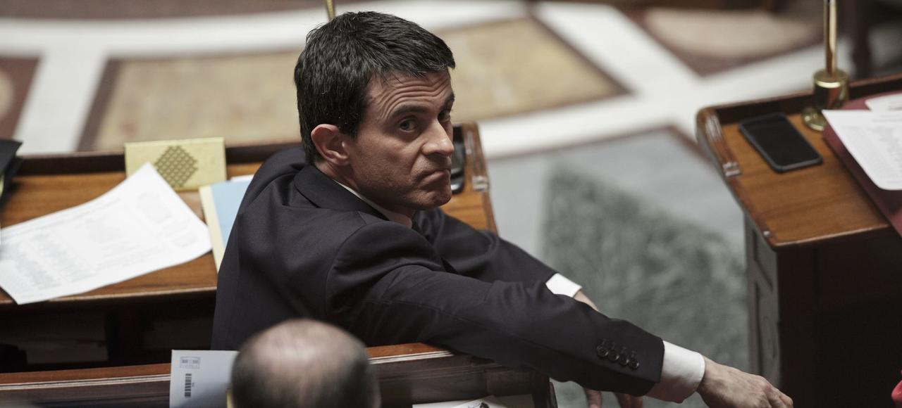 Manuel Valls, sur les bancs de l'Assemblée nationale, le 10 février.