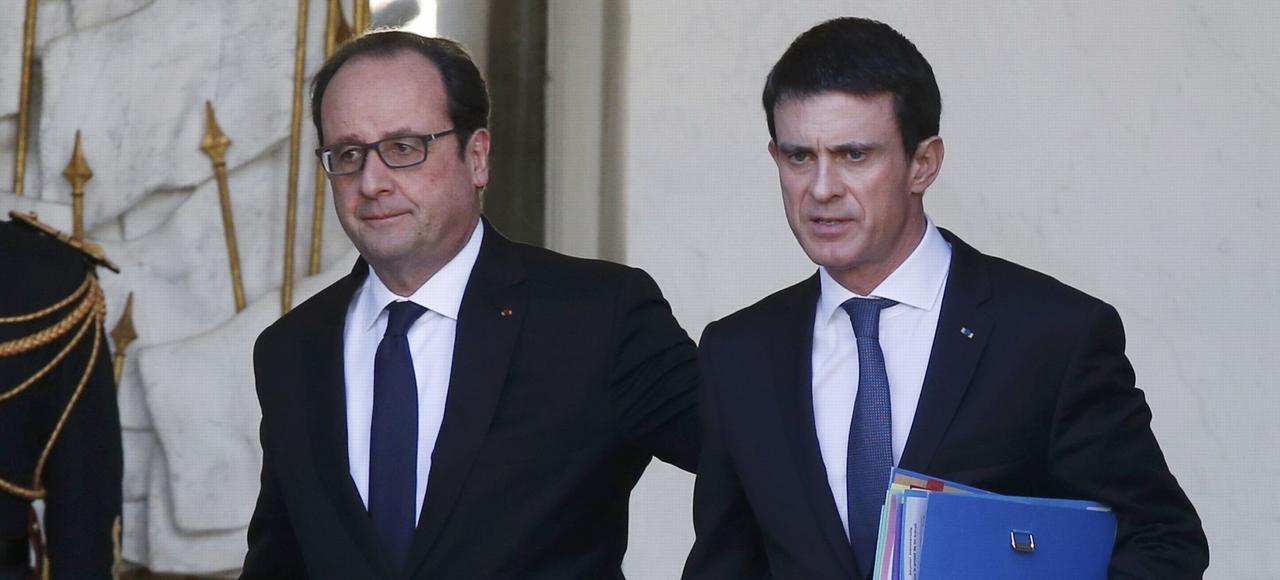 François Hollande et Manuel Valls, le 10 février, à l'Élysée.