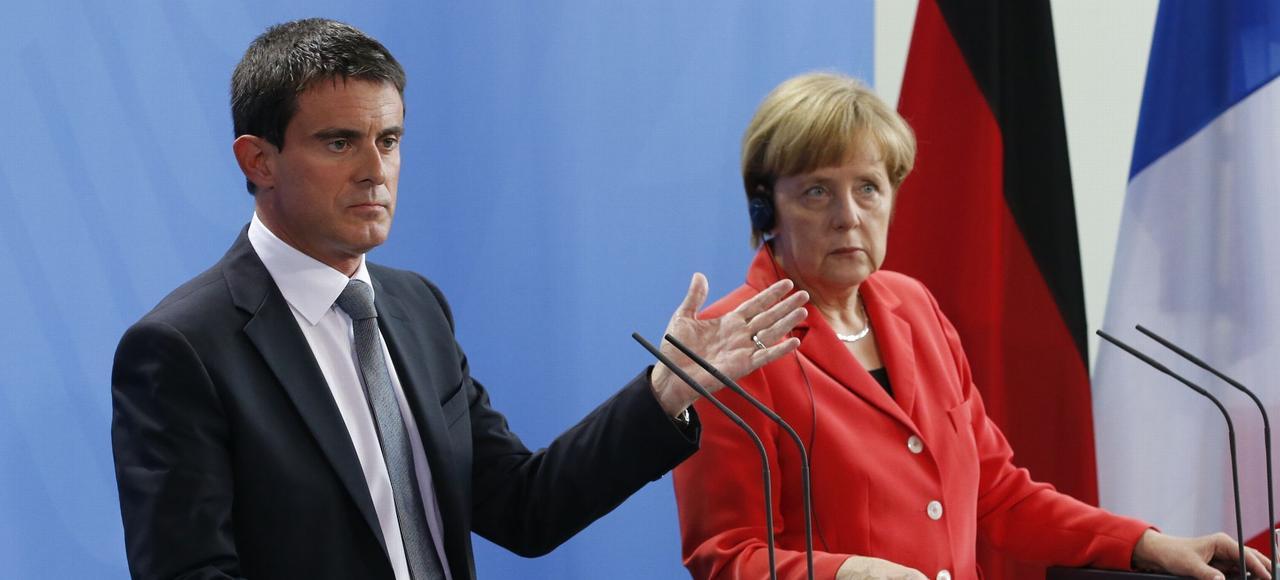 Le premier ministre français Manuel Valls et la chancelière allemande Angela Merkel ne sont pas sur la même longueur d'ondes.