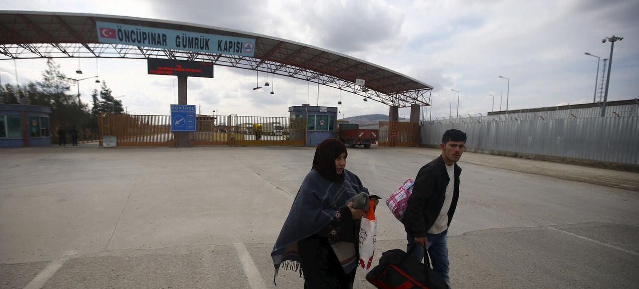 Le poste frontalier d'Oncupinar entre la Turquie et la Syrie.
