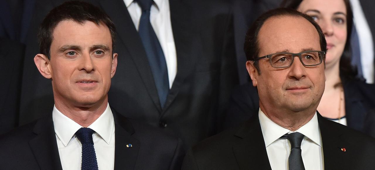 François Hollande et Manuel Valls, mercredi.