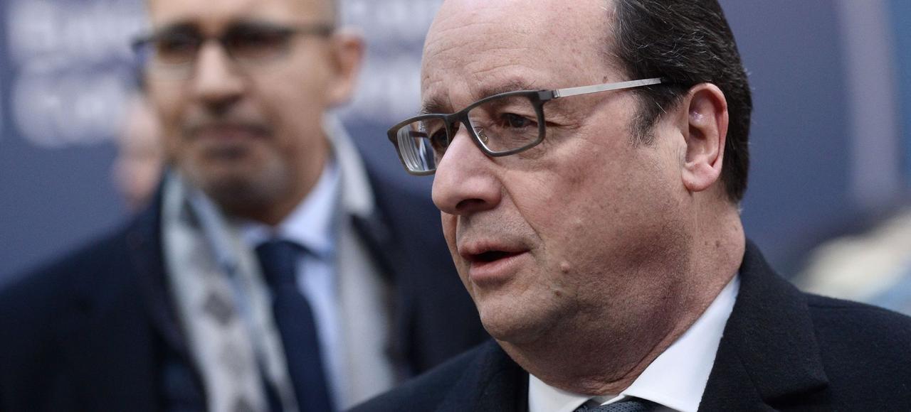 François Hollande, le 19 février à Bruxelles.