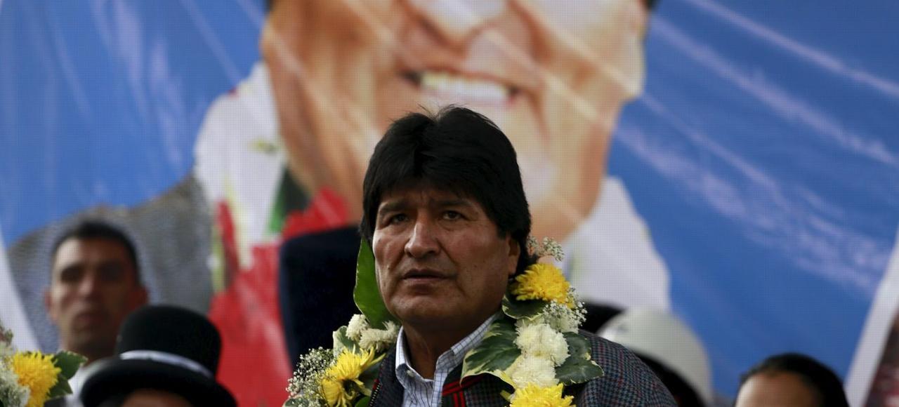 Le président bolivien, Evo Morales(ici mardi à El Alto dans la banlieue de La Paz), est tenté par un quatrième mandat.