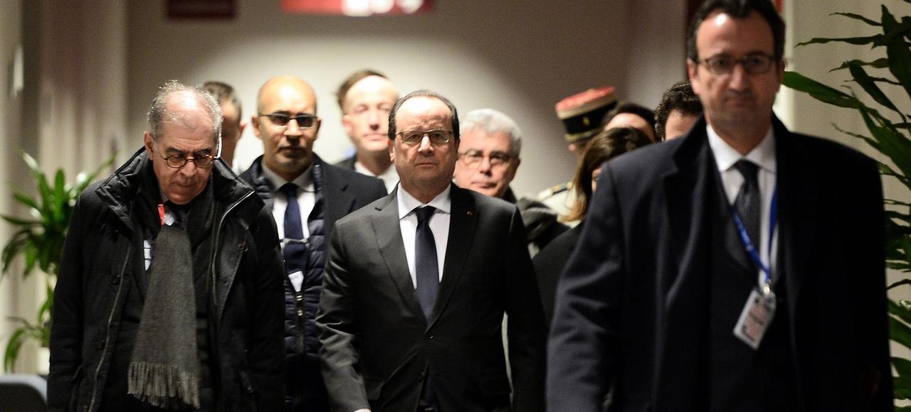 François Hollande à son arrivée au Conseil européen jeudi 18 février.