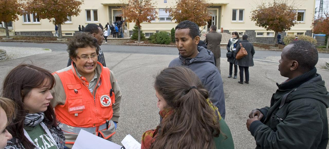 Des migrants ont été accueillis, en octobre dernier, sur l'ancienne base aériennede Varennes-sur-Allier.