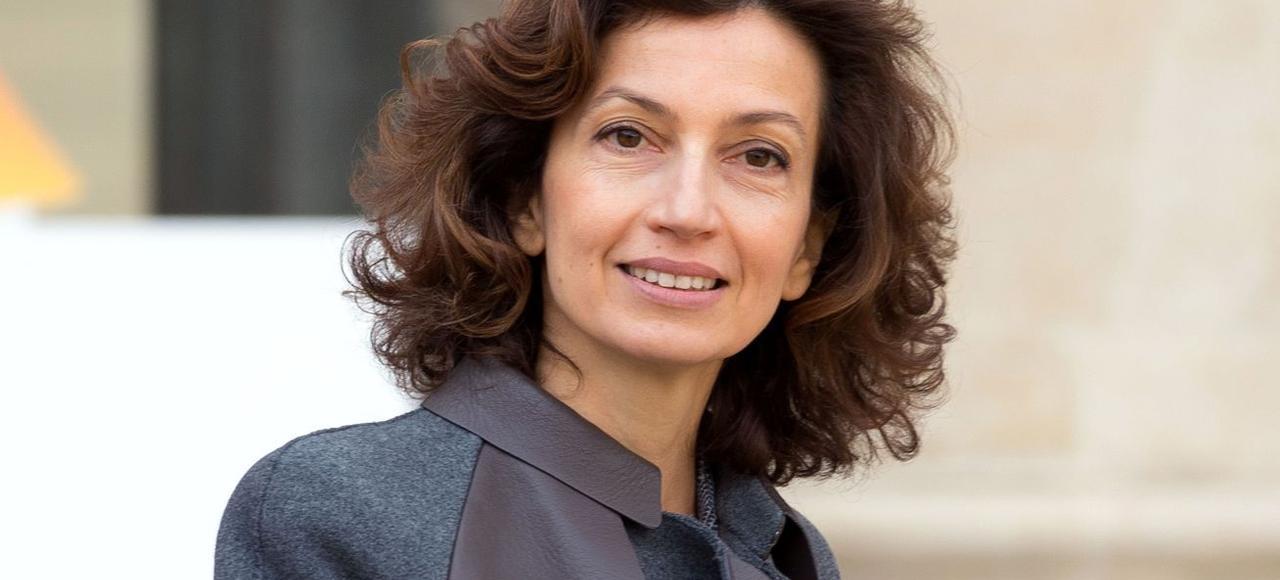 Audrey Azoulay sortant de l'Élysée après son premier Conseil des ministres, le 17 février.