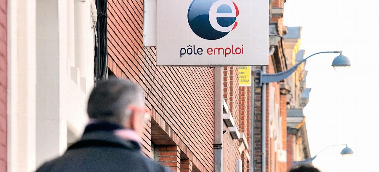 Une agence Pôle emploi à Arras (Pas-de-Calais).
