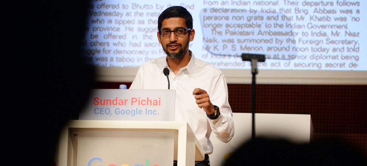 «Le projet AMP a un énorme potentiel» , s'est félicité mercredi le PDG de Google, Sundar Pichai, lors d'une conférence à Sciences Po, à Paris.