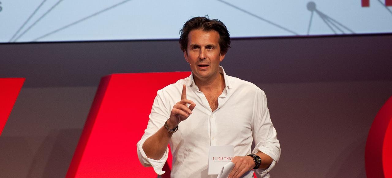 Yannick Bolloré, PDG d'Havas, à Los Angeles, le 2 février, lors du dernier Global Leadership Meeting de ses managers.