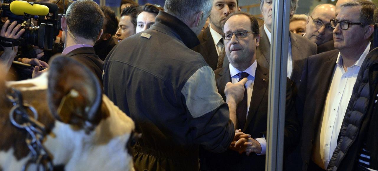 François Hollande à l'ouverture du Salon de l'agriculture, samedi à Paris