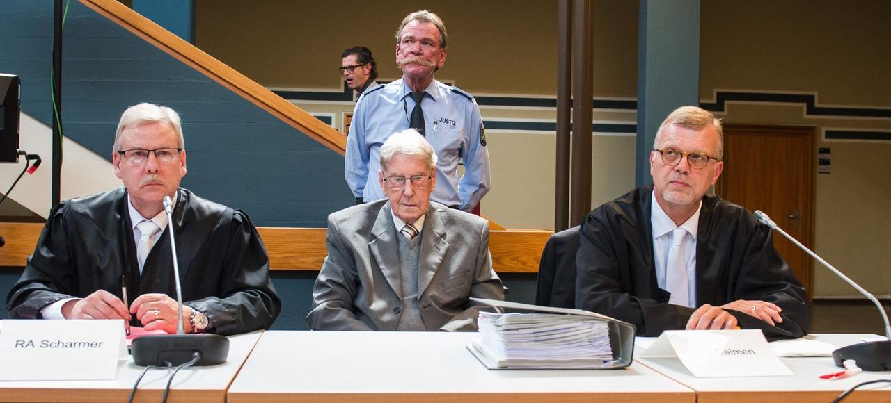 Reinhold Hanning lors de son procès.