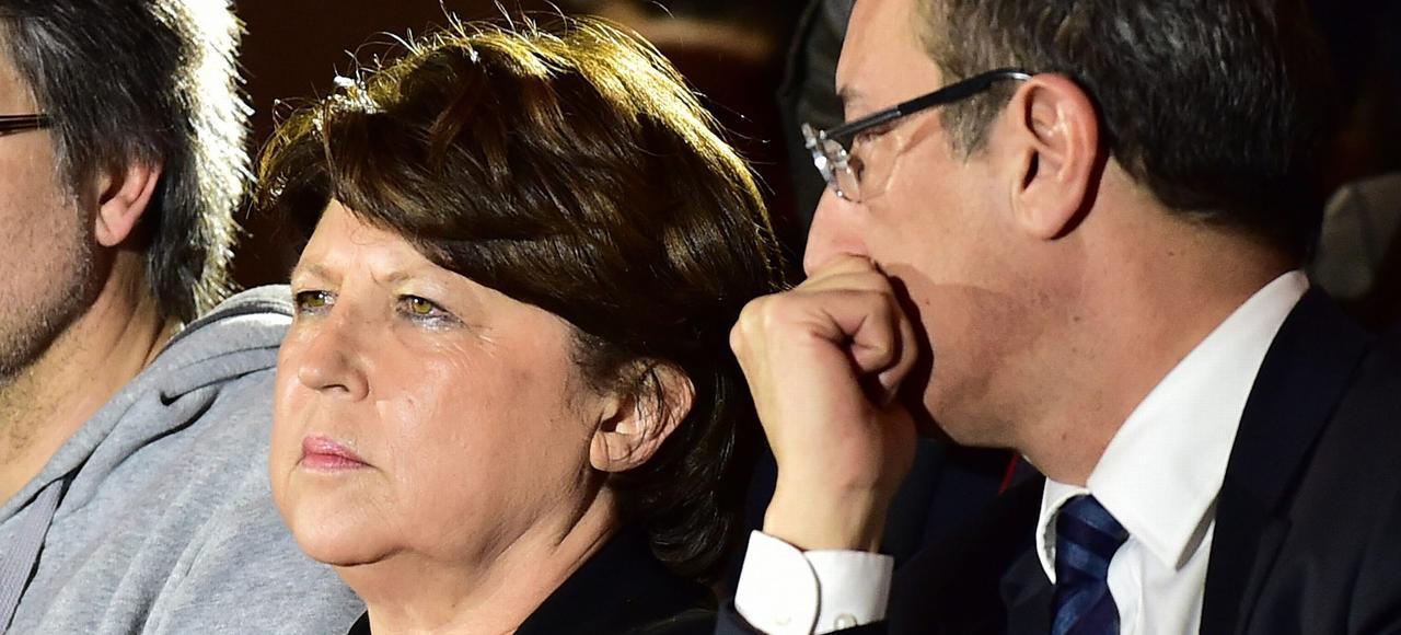 Martine Aubry lors d'une réunion publique du collectif «Notre primaire», jeudi à Lille.