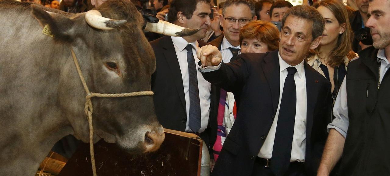 Le salon de l 39 agriculture sur la route de la primaire for Sarkozy salon agriculture