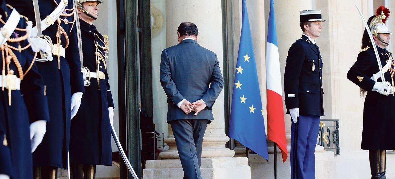 François Hollande sur le perron de l'Élysée en janvier dernier.