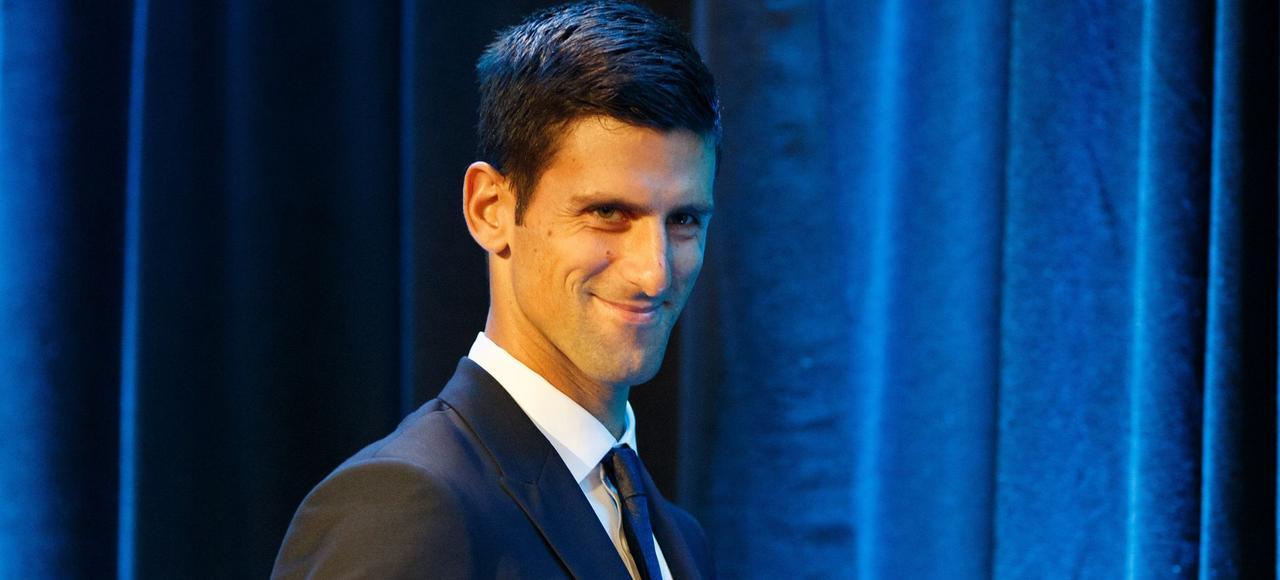 Novak Djokovic, à l'Unicef à New York le 26 août 2015, lors de sa nomination comme ambassadeur de bonne volonté de l'organisation pour son action en faveur de l'éducation et du développement de la petite enfance.