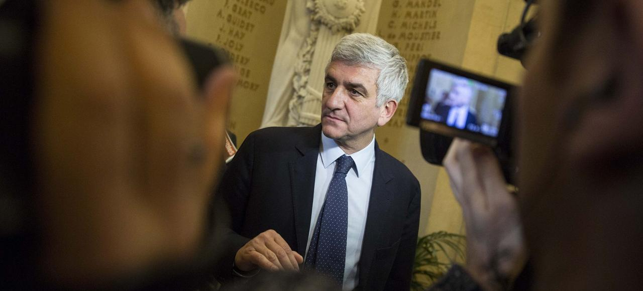 Hervé Morin, patron du Nouveau Centre, à l'Assemblée nationale, en novembre 2014.