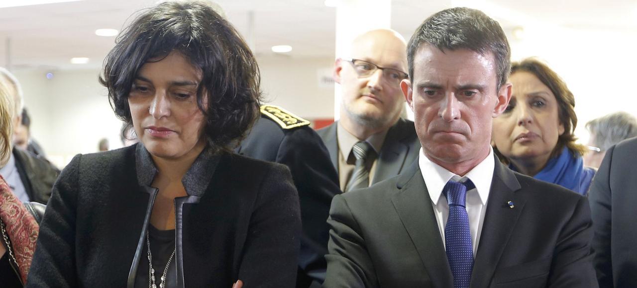 Myriam El Khomri et Manuel Valls.