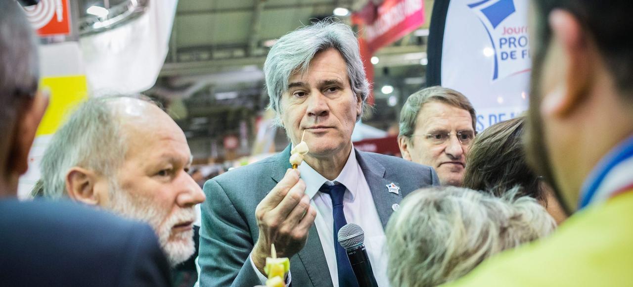 Stéphane Le Foll a visité le Salon de l'agriculture, jeudi à Paris.