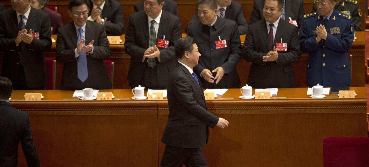 Le président chinois Xi Jinping arrive à la session annuelle du Parlement de la République populaire, jeudi à Pékin.