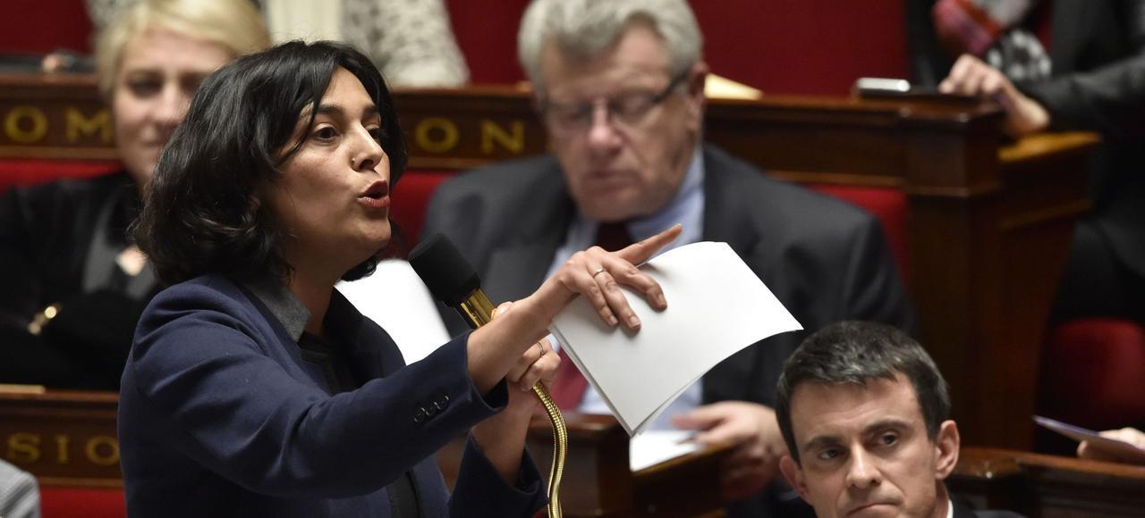 La ministre du Travail, Myriam El Khomri, mardi lors d'une intervention à l'Assemblée nationale.