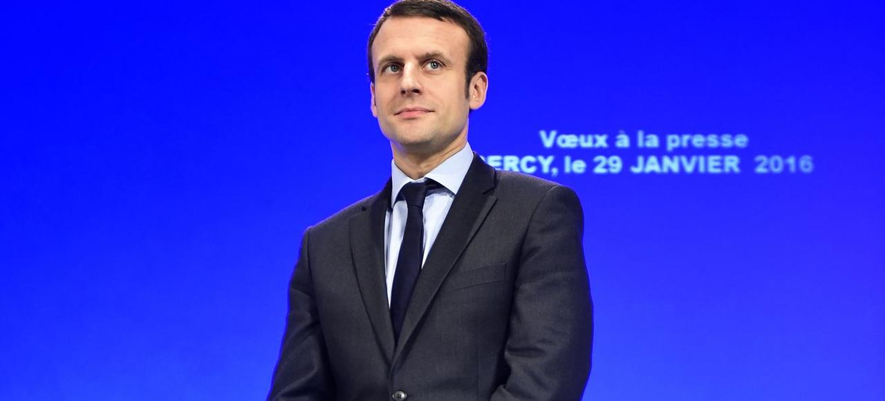 Emmanuel Macron, ministre de l'Économie lors des vœux à la presse, le 29 janvier.