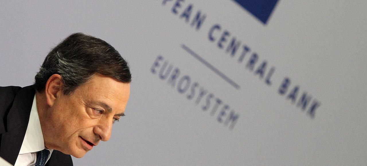 Mario Draghi, le président de la BCE, a indiqué jeudi, à Francfort, qu'il ne voulait pas «donner un signal de baisse sans limite» des taux négatifs.