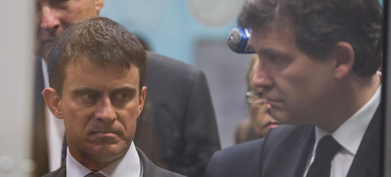 Manuel Valls et Arnaud Montebourg.