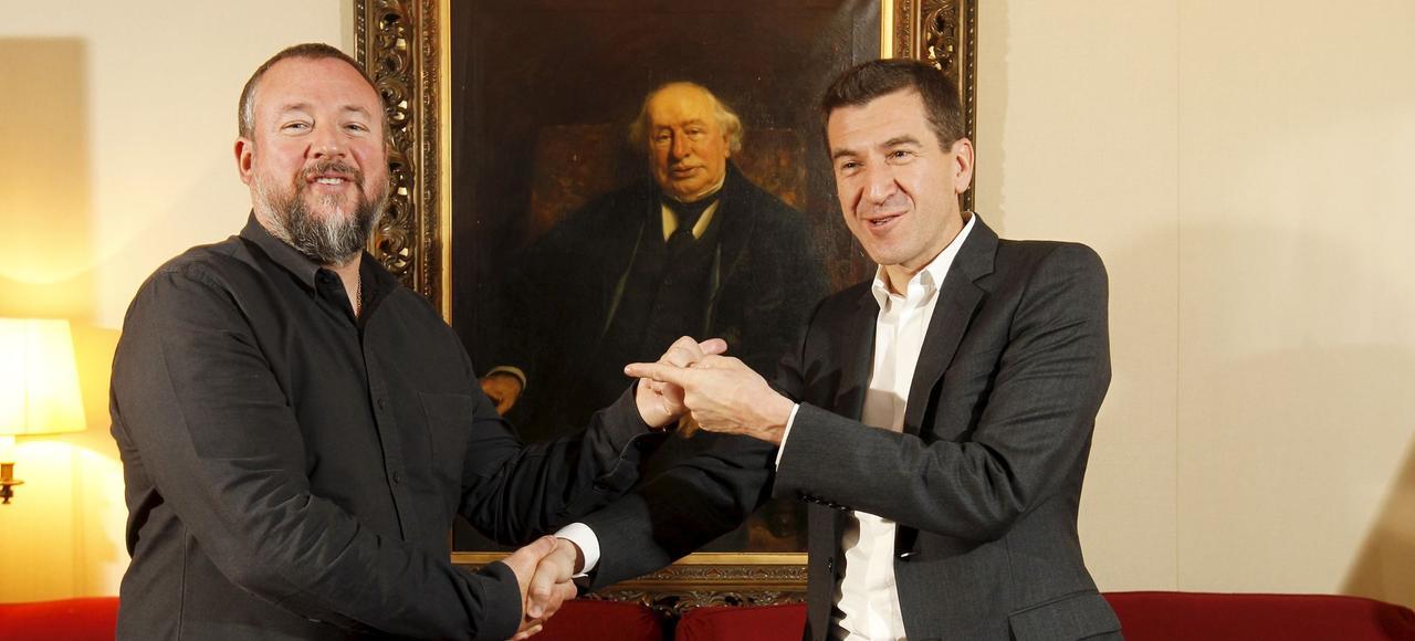 Shane Smith (à gauche), PDG de Vice Media, et Matthieu Pigasse