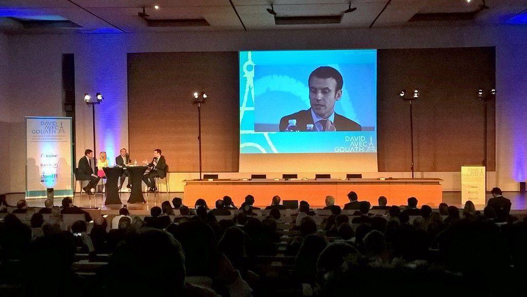 Emmanuel Macron, lors de la conférence «David avec Goliath», le 1er mars à Paris