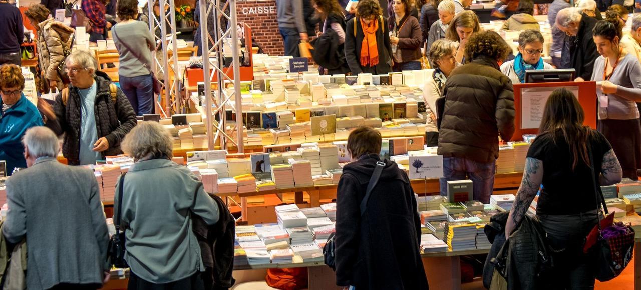 Après sept ans de baisse, le marché du livre (en photo le Salon du livre 2015) a repris des couleurs l'an passé, avec une hausse en valeur de 1,8%.