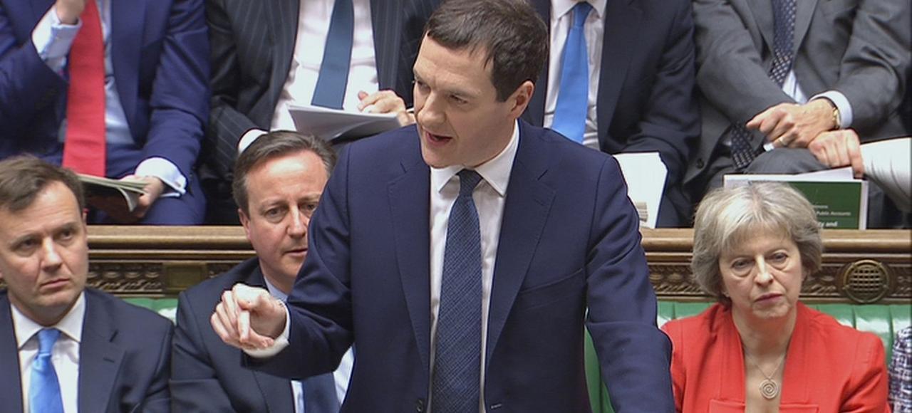 George Osborne, chancelier de l'Échiquier, le 16 mars 2016 à la chambre des communes.
