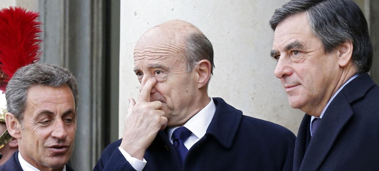 Les Républicains Nicolas Sarkozy, Alain Juppé et François Fillon n'ont pas le même point de vue sur le prélèvement à la source.