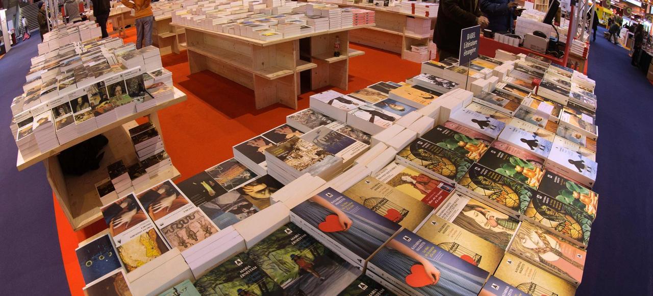 Le Salon du livre, à Paris, le 16 mars