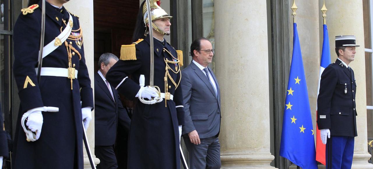 François Hollande, ici sur le perron du palais de l'ÉLysée.