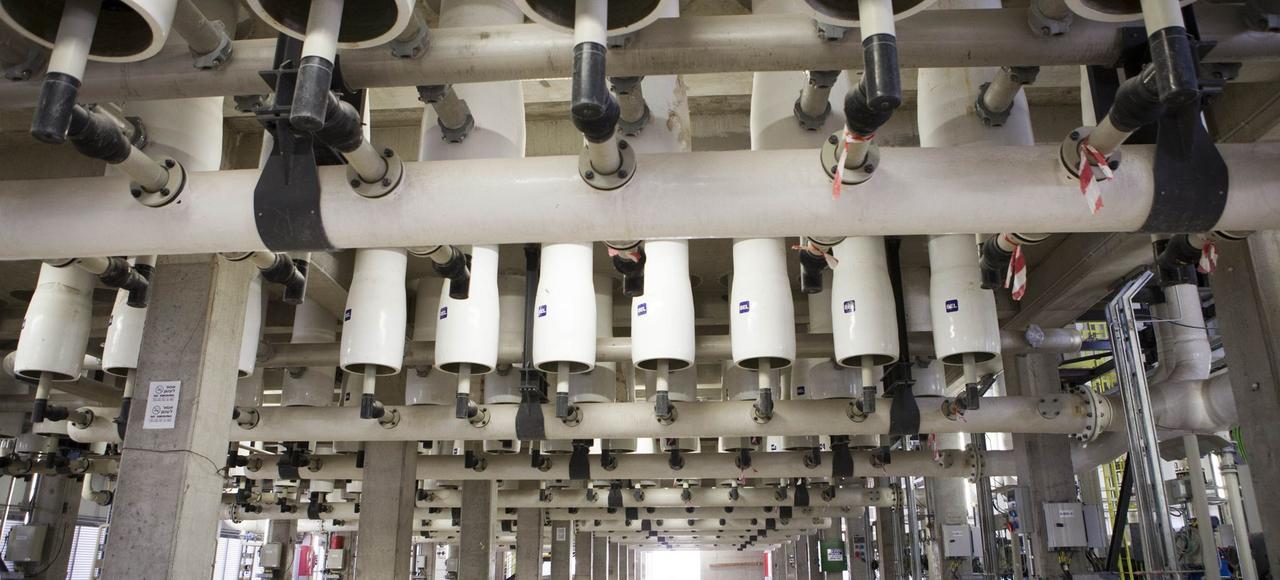 L'usine de dessalement de Sorek, en Israël.