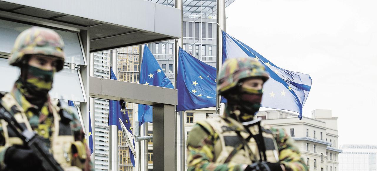 Bruxelles, au lendemain des attentats.