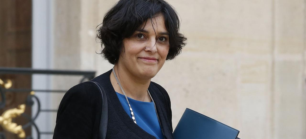 La ministre du Travail, Myriam El Khomri, lors d'une visite des installations Minos à Monthureux-sur-Saône, le 18 mars.